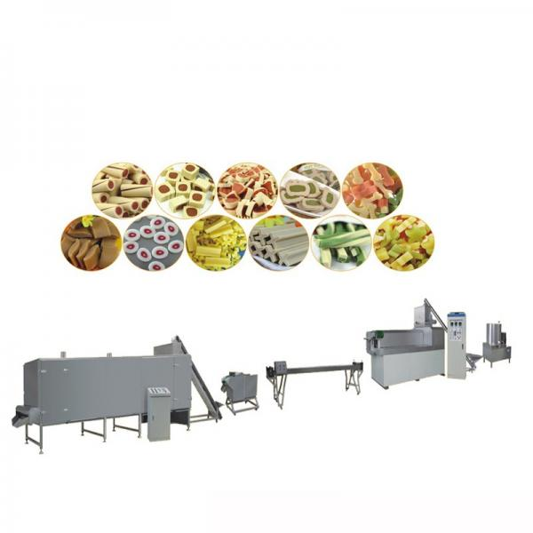 Colorful Treat Chew Dog Pet Food Production Line Fish Feed Extruder Machine