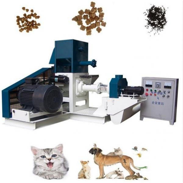 Automatic Cereal Basing Puffed Dry Pet Dog Cat Brid Kibble Food Fish Feed Manufacturer Processing Line Machines Prices